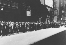 Food Line during the Great Depression