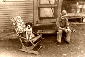 Unemployed farmer during the depression