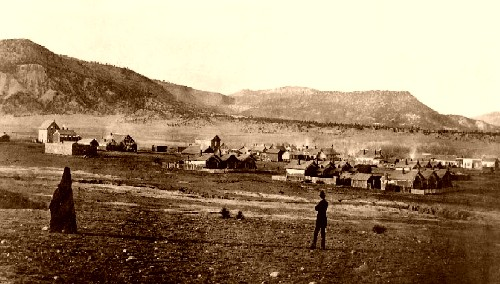 Historic View of Cimarron, New Mexico