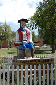 Lucien B. Maxwell Statue in Cimarron, New Mexico