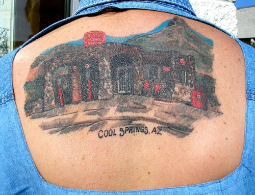 Ron says this tattoo was the most painful of all of them.