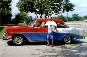 Ron Jones and his 1956 Chevy in Bartlesville, Oklahoma