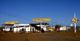 Whiting Brothers Gas Station in Winslow, Arizona