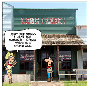 Long Branch Saloon cartoon