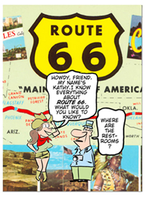 Route 66 cartoon