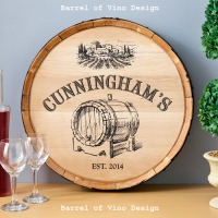 Wine Barrel Home Decor Signs (made from real oak wine barrels)