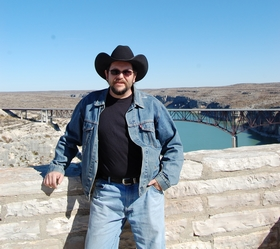 Dave Alexander at the Pecos River Bridge