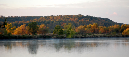 Fall Color across the street from our home just outside Warsaw, Missouri