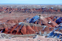 Painted Desert after a dusting of snow