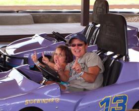 Speedracing with my granddaughter