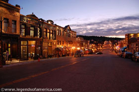 Cripple Creek, Colorado at night