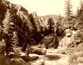 Devil's Curve, Big Thompson Canyon, Estes Park, Colorado, 1909