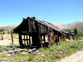 Abandoned Mine building near Leadville, Colorado
