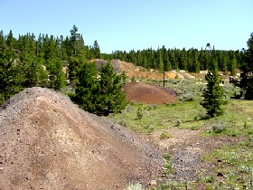 Tailings at the Matchless Mine