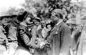 Silver Dollar Tabor with Teddy Roosevelt in 1910