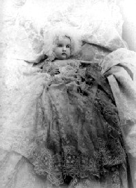 Silver Dollar Tabor as a baby, 1889