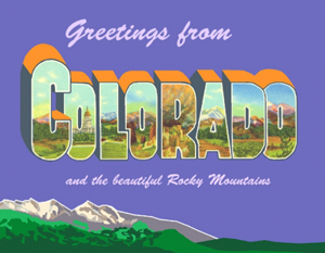 Greetings From Colorado Custom Postcard