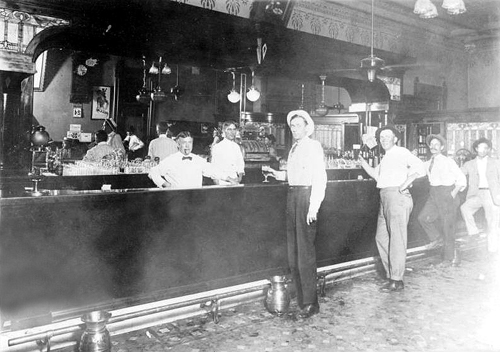 Old West Saloons Vintage Photographs Stockmens Club In