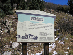 Woodstock, Colorado marker