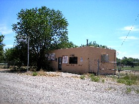 Abadoned Grocery store in  Algadones, New Mexico
