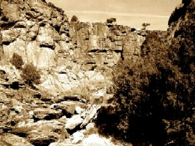 Black Jack Canyon Near Raton, New Mexico