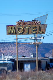Bluewate, New Mexico Motel Sign
