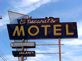The bluewater motel in new mexico