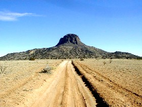Cabezon Peak in Rio Puerco Valley, New Mexico
