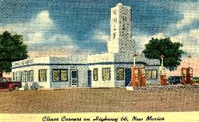 Vintage Cline's Corners postcard