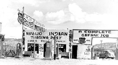 Continental Divide Gas Station in 1940