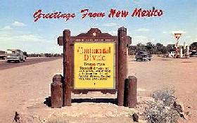 Vintage Continental Divide Postcard