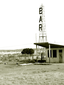 An old and abandoned bar in Correo, New Mexico