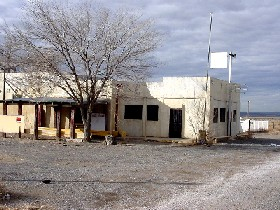 Old cafe in Cubero, New Mexico