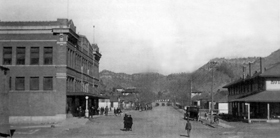 Dawson, New Mexico Main Street, 1916