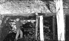 Interior of Dawson, New Mexico Mine