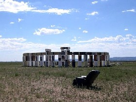 Fridgehenge in Santa Fe, New Mexico