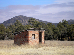 Abandoned building in Jicarilla, New Mexico