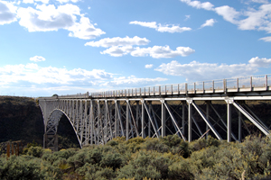 The John Dunn bridge over the Rio Grande River Gorge north of Taos, New Mexico
