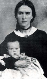 Jesefa Carson and infant son