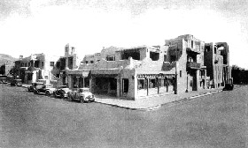 La Fonda Hotel historic postcard