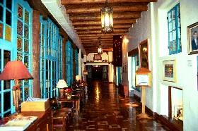 Interior of the La Fonda Hotel