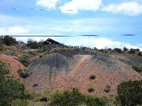 Mining operations south of Madrid, New Mexico