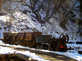 Mining Cars at Mogollon, New Mexico
