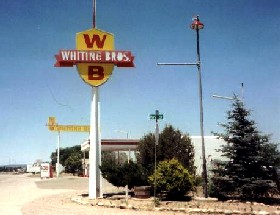 Whiting Brothers gas station in Moriarty, New Mexico