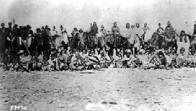 Navajo Prisoners taking the &quot;Long Walk&quot; 