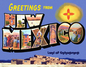 Greetings From New Mexico Custom Postcard