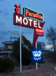 Paradise Motel in Tucumcari, New Mexico