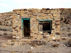 Ruins of old building at Parage, New Mexico