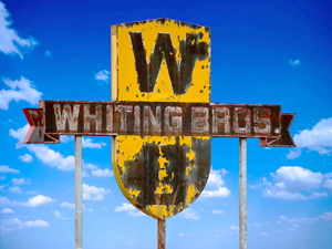Whiting Brothers Sign between San Fidel and McCartys, New Mexico