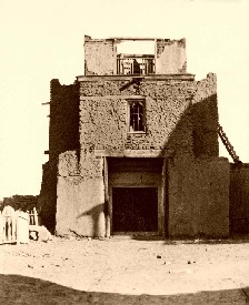 San Miguel Mission, Santa Fe, New Mexico, 1888